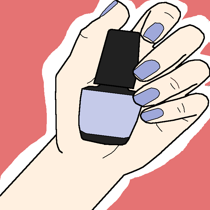 the nail color
