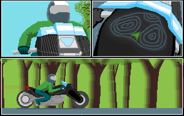 bike trip in forest