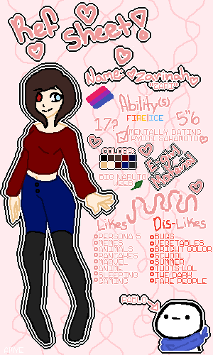 Main Oc Reference Sheet! <3