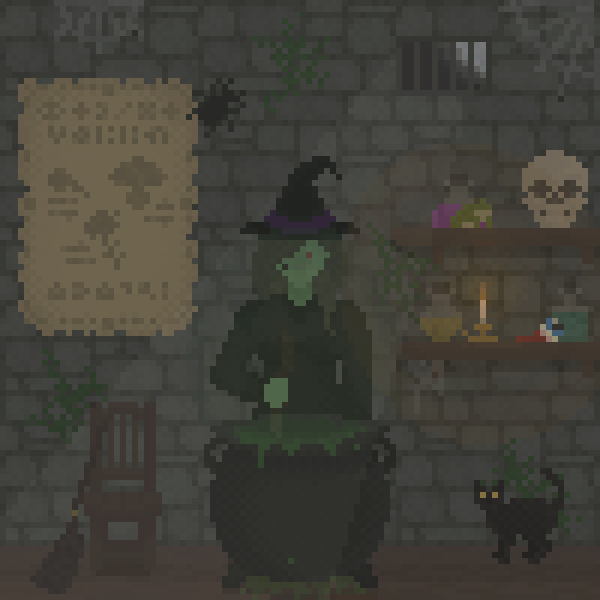 Witch Brewing A potion