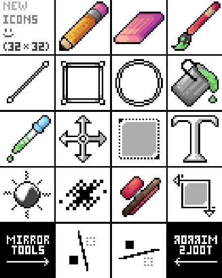 Some pixilart icons