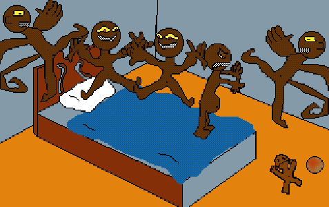 The Five Silly Monkeys Jumping on a Bed...