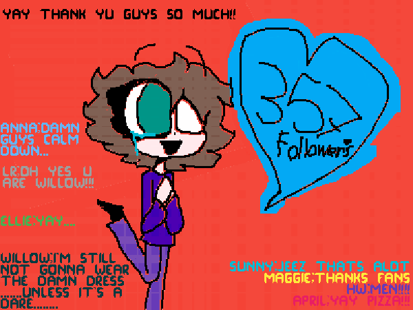 357 followers!!