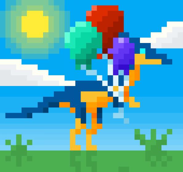 Dino and ballons