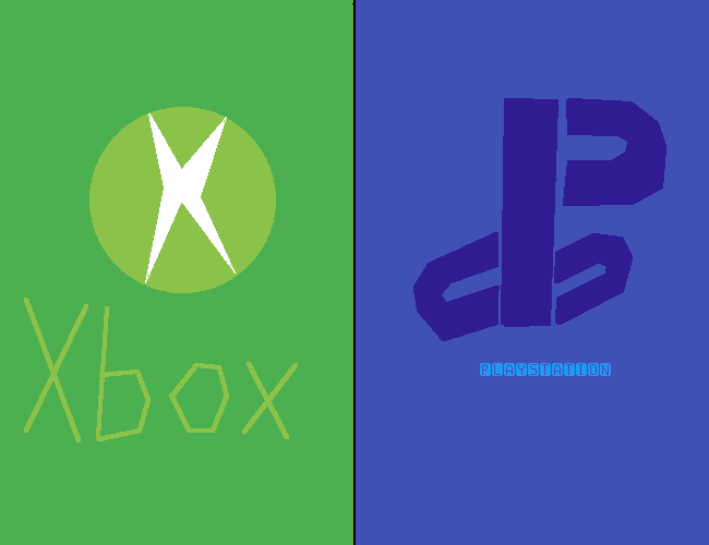 Green & Blue is Xbox & Playstation (Green & Blue Challe
