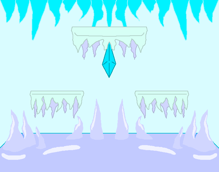 ICY CAVES (slippery platforms)