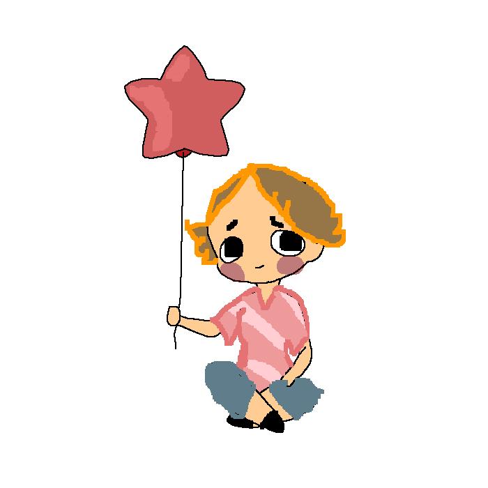 me holding balloon