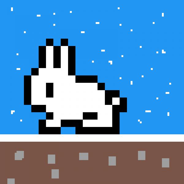 snowy bunny!!!!!