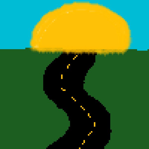 Road into the sunset
