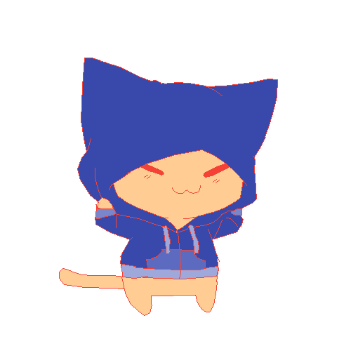 Cat w/ Hoodie (edited with color)