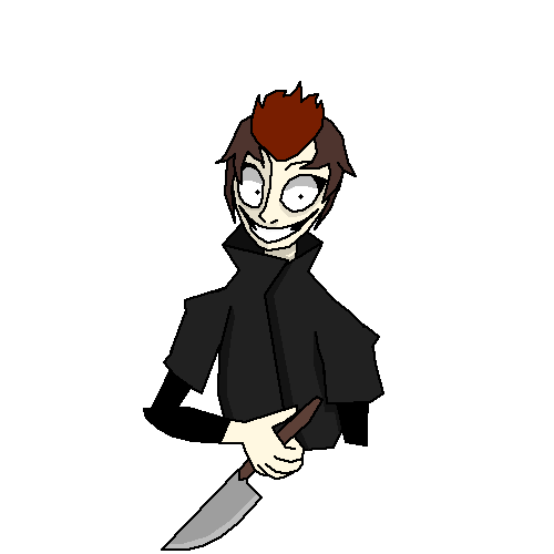 A guy with knife idk