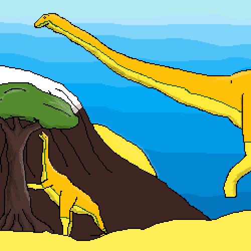 Diplodocus in the dawn