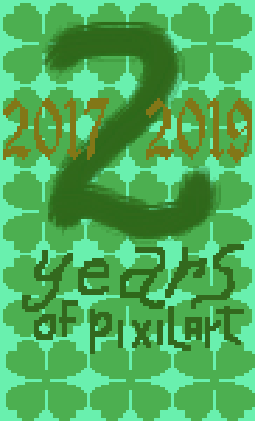 2 Years of Pixilart Commemorative Clovers Card