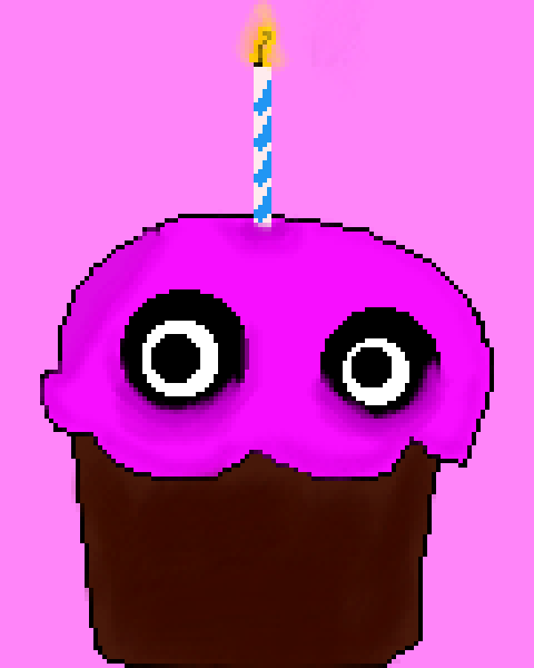 CHICA's cupcake giant cake form fnaf