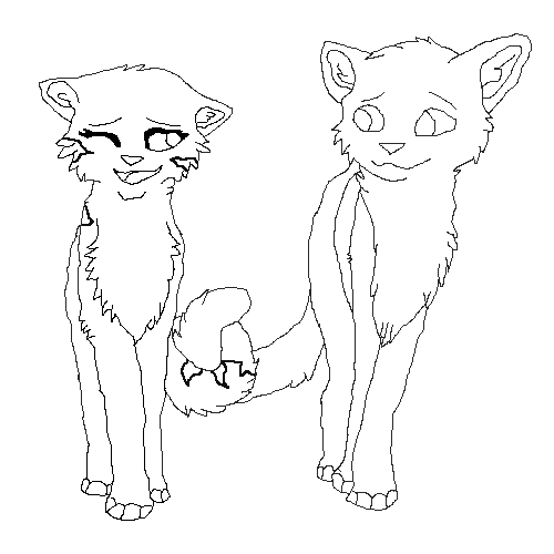 draw a pair of cats