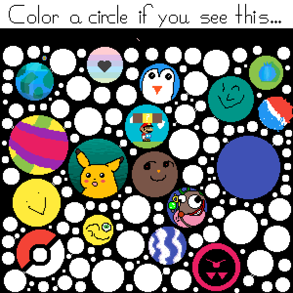color circle if you read this