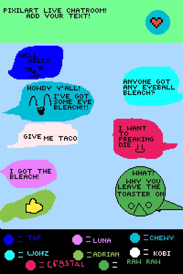 Pixilart live chatroom