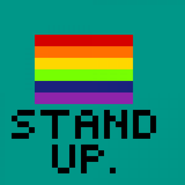 It's time to stand.