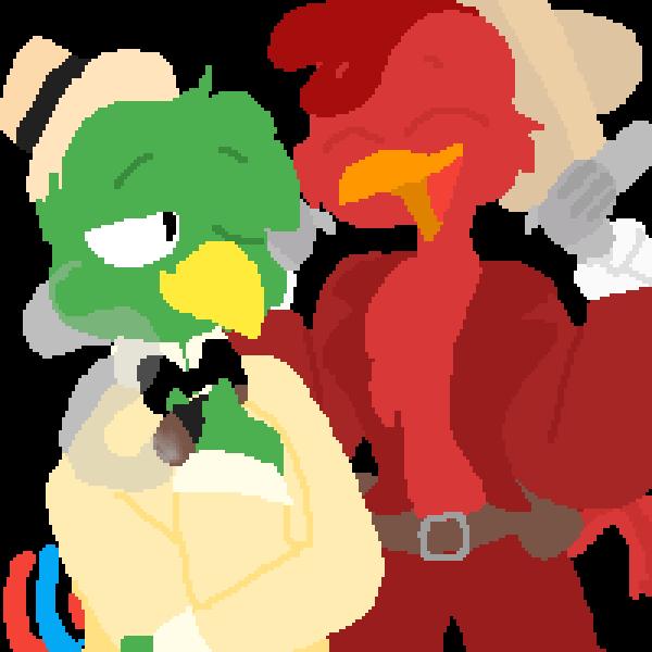 Jose Carioca and Panchito Pistoles