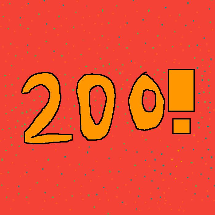 Celebrating 200 Followers!!!!!!