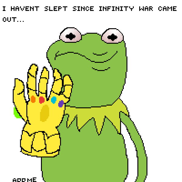Cocaine Addict Kermit Thanos