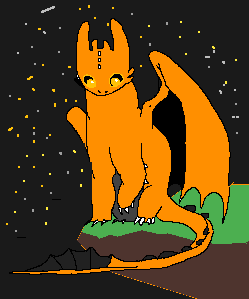 night time dragon