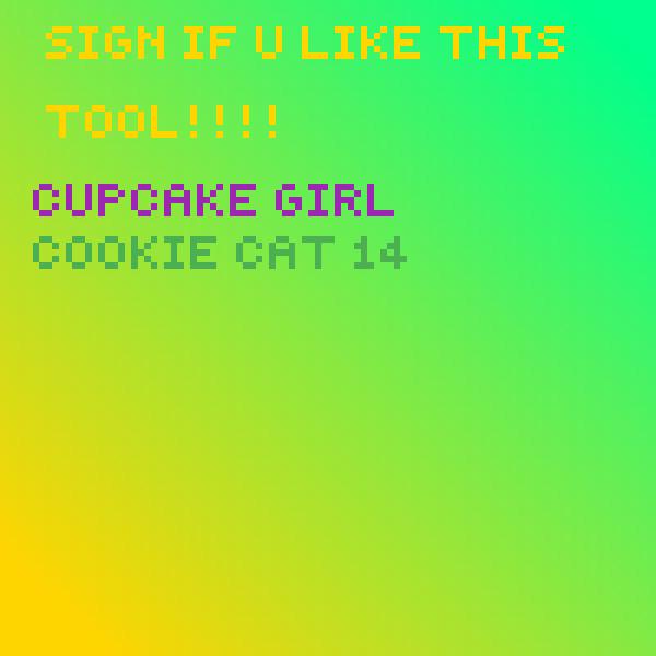 Sign if u like gradient t