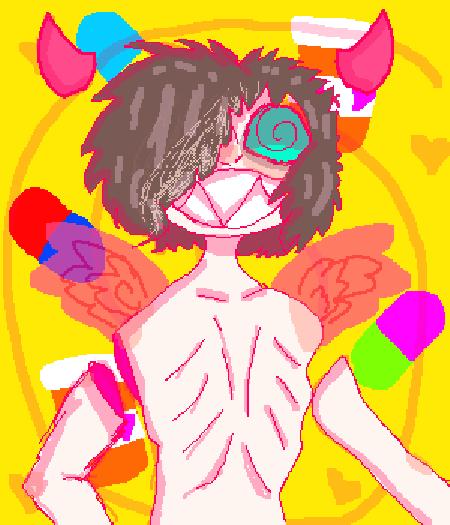 Demon god self portrait.