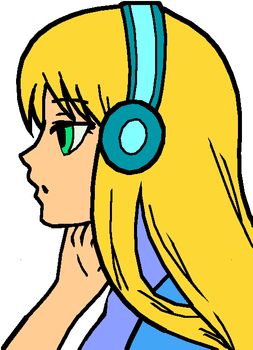 Cinderella wearing beats