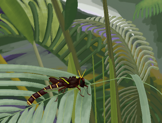 The Tropical Grasshopper ; collab with @Biology-nerd