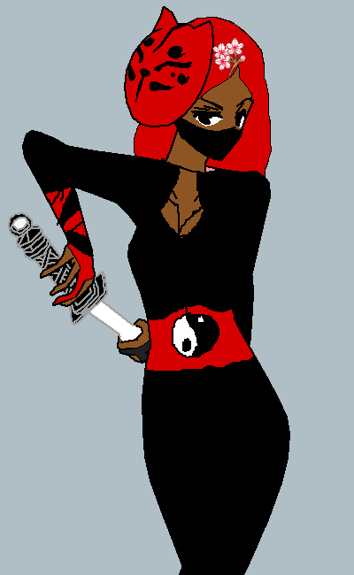 Black and Red Ninja