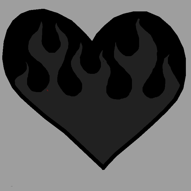 my heart the flames went out