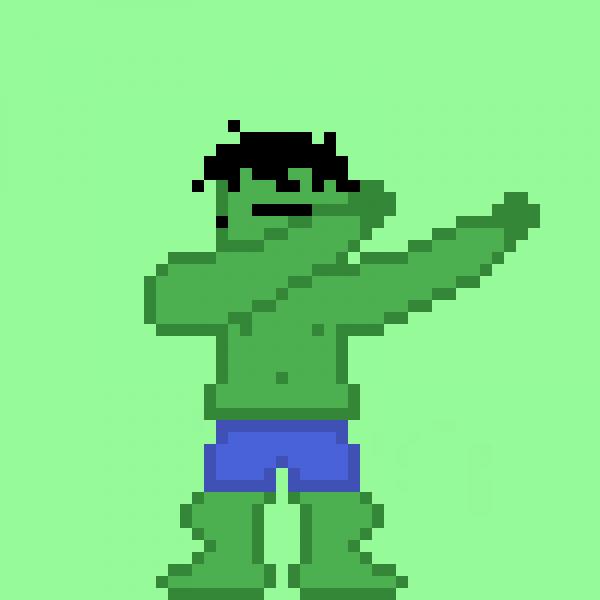 Hulk dabbing
