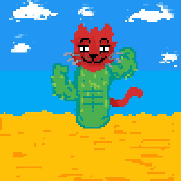 CAT-tus (very macho cactus)