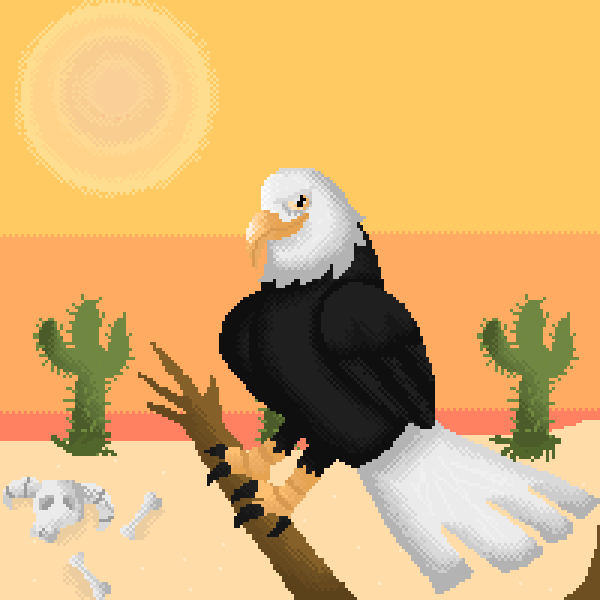 Eagle in desert