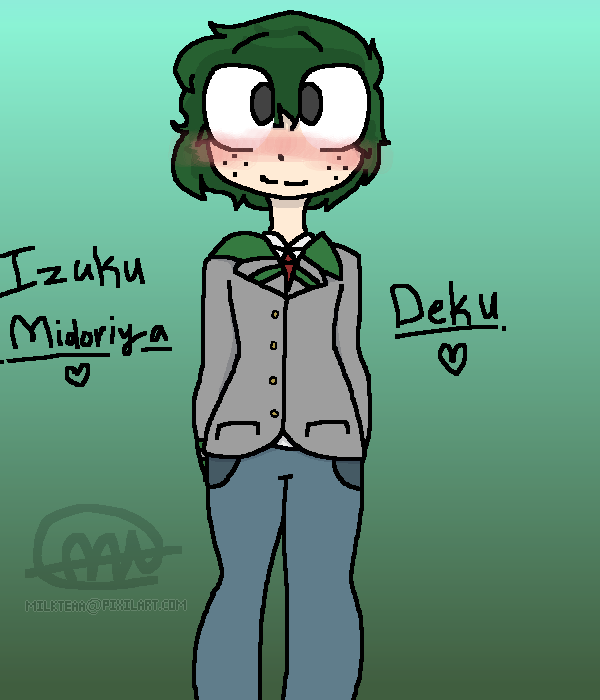 Rushed drawing of Deku hcbdhbchbvc-