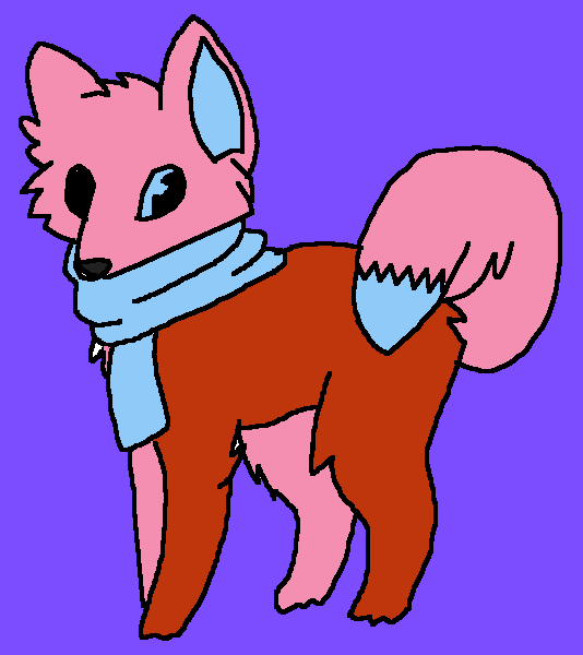Diane Grafe as a fox