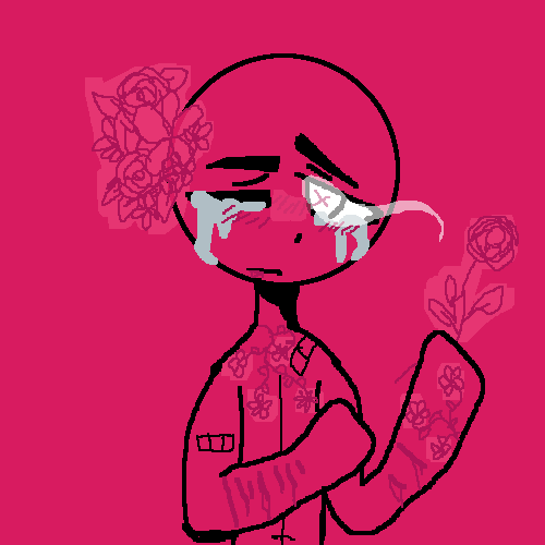 {Gore Warning/Self-harm} Flowers cover up the pain.