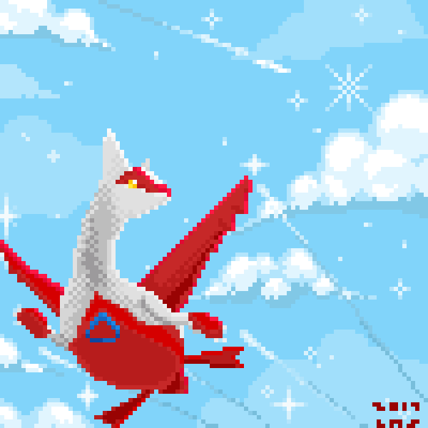 Latias in the sky without diamonds