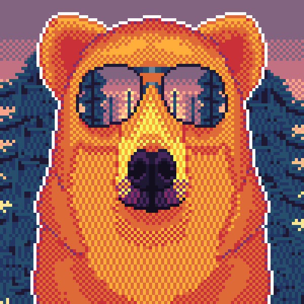 A Bear With Sunglasses
