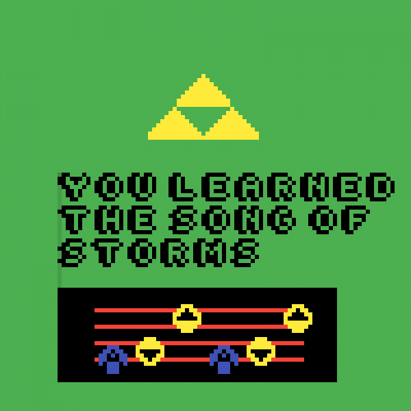 song of storms (GIF)