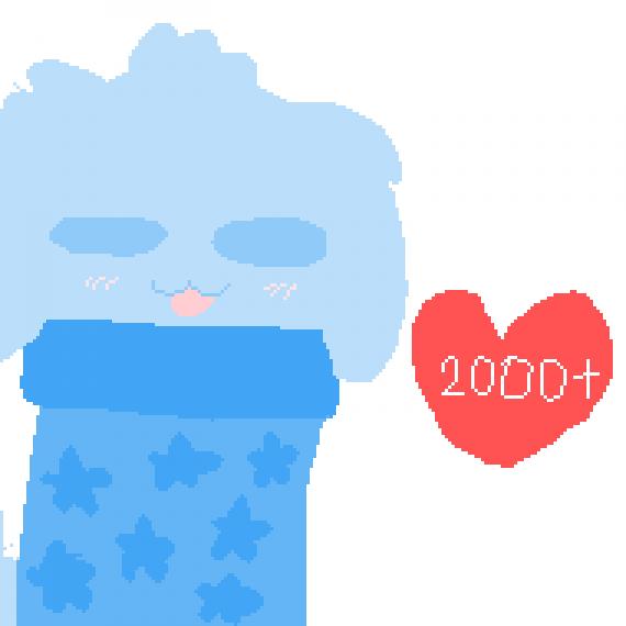 2000 amazing people ♥♡♥♡