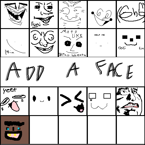 Fill in a face