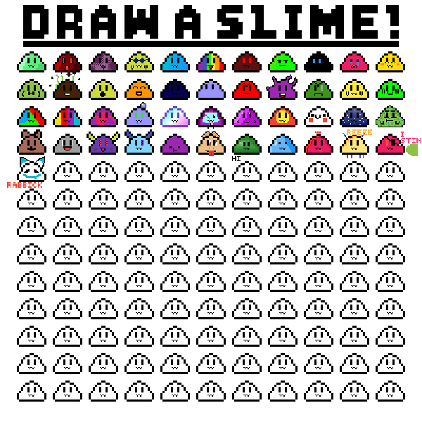 Slime group drawing thing