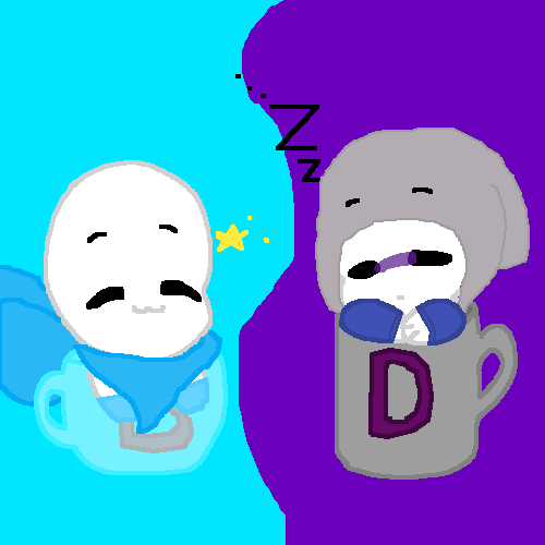 Smol dust and blue in liitle cups >w<