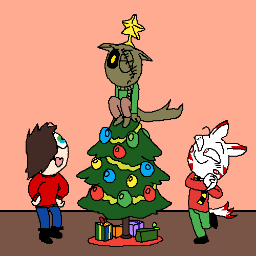 happy holidays from peppermint,mark,and lunar