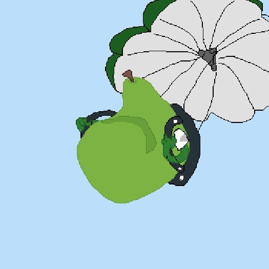 Pear-achute