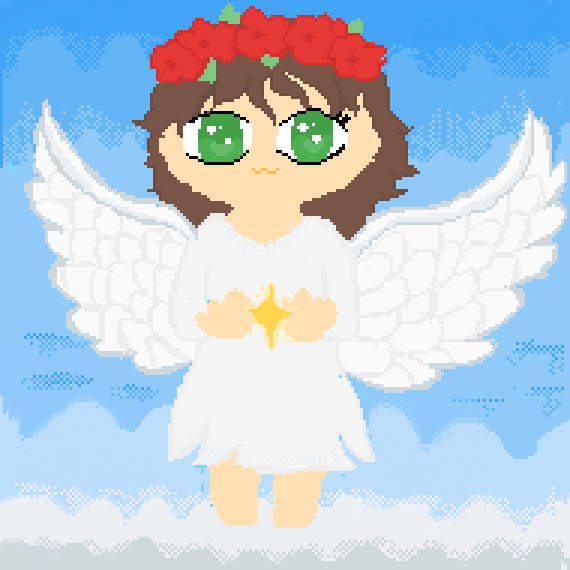 A Angel Drawing Cause why not XD
