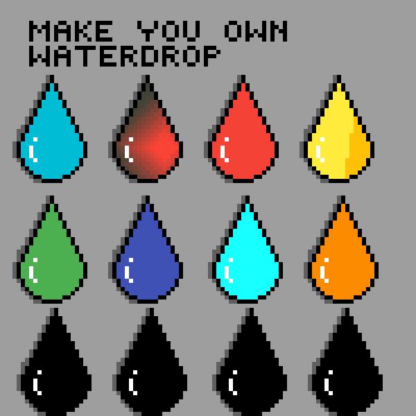make you own waterdrop