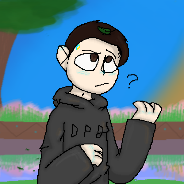 :Connor-- uhm...a leaf.: